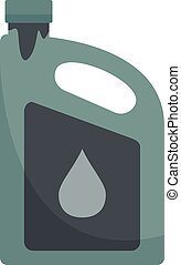 Used motor oil canister icon flat isolated vector