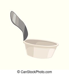 Used open can tin, recycling garbage concept, utilize waste vector Illustration isolated on a white background.