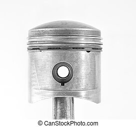 Used piston isolated on a white background