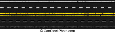Used Road - Illustration of Used 4 Lanes Paved Road