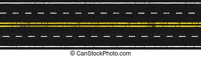 Used Road - Illustration of Used 4 Lanes Paved Road