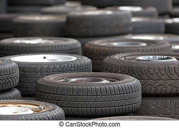 Used tires to buy at the scrapyard