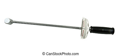 used torque wrench on a white background