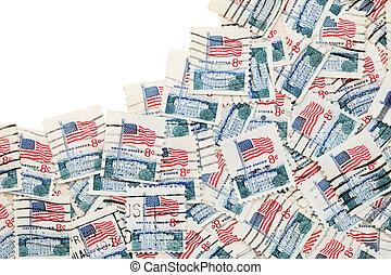 used US postage stamp