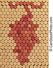 Used Wine Corks Grape Cluster Pattern for Background