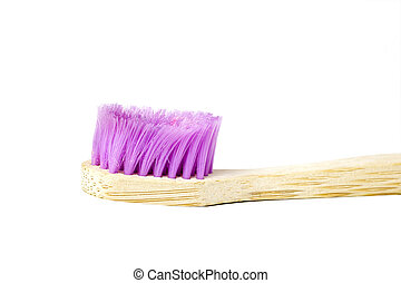 Used wooden toothbrush