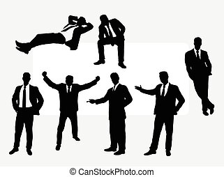 Useful businessman silhouettes - Useful businessman action...