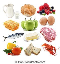 useful food isolated on white