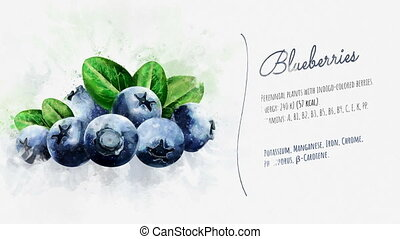 Useful properties of Blueberries - A finished video about...