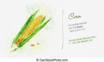 Useful properties of Corn - An animated pattern of Corn...