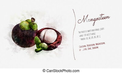Useful properties of Mangosteen - A finished video about the...