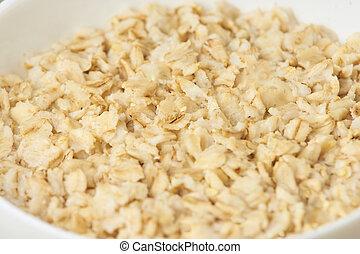 Useful tasty porridge. Oatmeal for breakfast. Dietary food