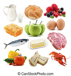 useful_food - useful food isolated on white