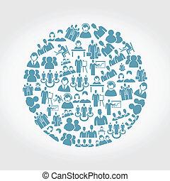 User a circle