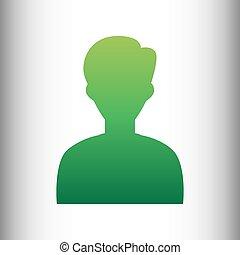 User avatar. Green gradient icon