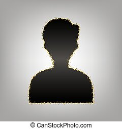 User avatar illustration. Anonymous sign. Vector. Blackish...
