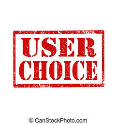 User Choice-stamp