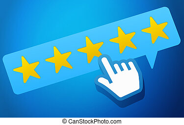 User Customer Review Product Rating Feedback Concept