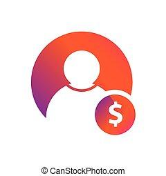 user dollar money vector icon