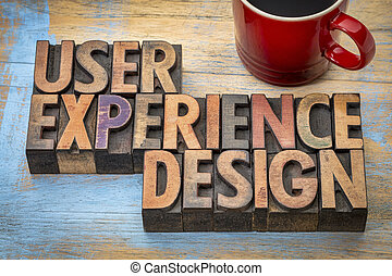 user experience design - word abstract in vintage...