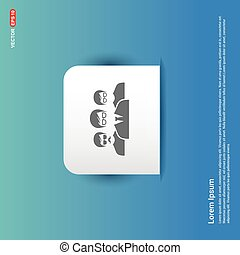 User group icon. - Blue Sticker button