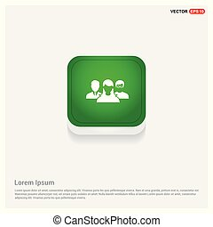 User group icon. Green Web Button