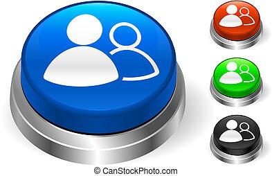 User Group Icon on Internet Button Original Vector...