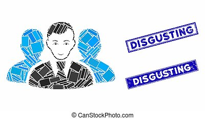 User Group Mosaic and Distress Rectangle Disgusting Stamps