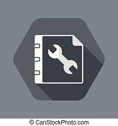User guide book - Minimal icon