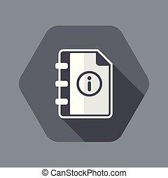 User guide book - Vector icon