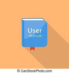 user guide manual vector icon