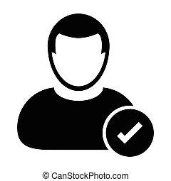 User Icon - Approve, Accept Icon