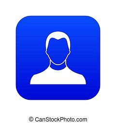 User icon digital blue