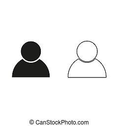 user icon - green vector icon