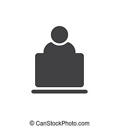 User Icon in trendy flat style isolated on grey background. User symbol for your web site design, logo, app, UI. Vector illustration, EPS10.