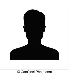 User icon isolated on white background. User icon in trendy design style for web site and mobile app.