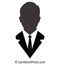 User Icon, Male avatar in business suit-Vector Iconic
