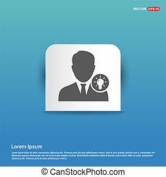 User Idea icon - Blue Sticker button