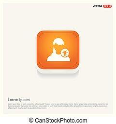 User Idea icon Orange Abstract Web Button