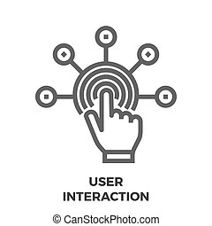 User Interaction Line Icon