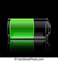 User interface battery charge level indicator. 10 eps