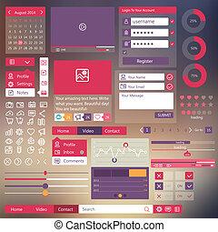 user interface flat design elements