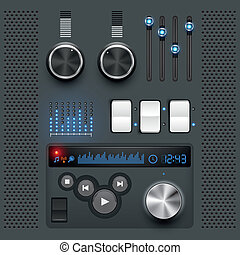 User Interface Set - GUI. User interface graphic design ...