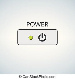 User interface switch button On Off