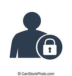 User login icon on white background.