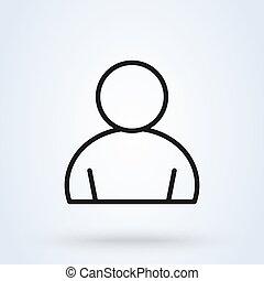 user outline Simple vector modern icon design illustration.