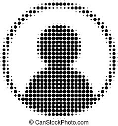 User Portrait Halftone Dotted Icon