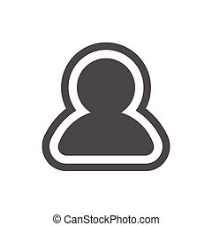 User profile icon in trendy flat style isolated on white background. User silhouette symbol for your web site design, logo, application or UI. Vector illustration, EPS10.
