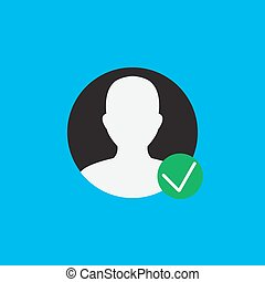 Verified User Account User Verified Icon Vector Image Can Also