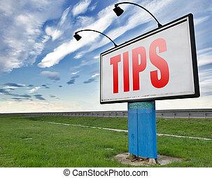 user tips